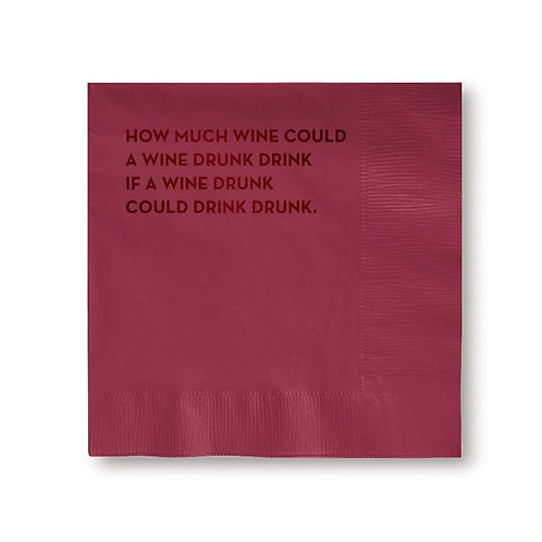 Wine Drunk Cocktail Napkins