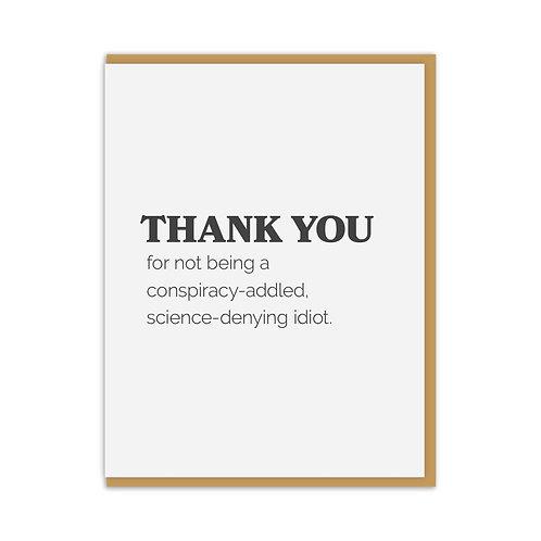 Thank You Idiot Card