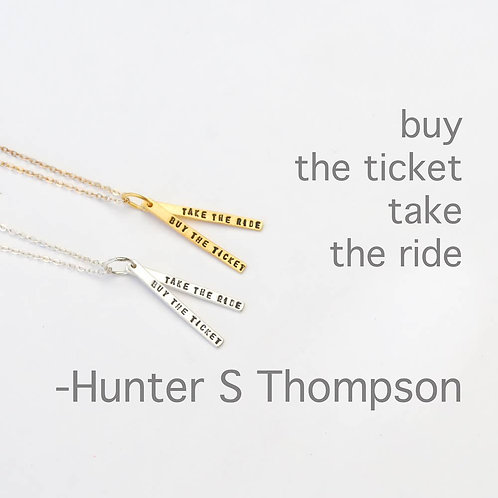 Hunter S. Thompson Necklace