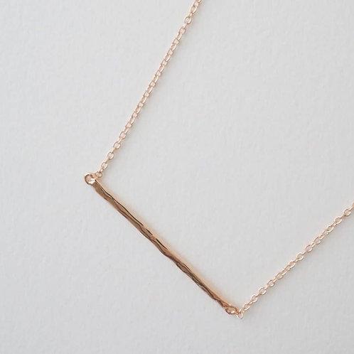 Hammered Bar Necklace