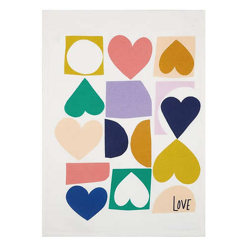 Hearts Kitchen Towel