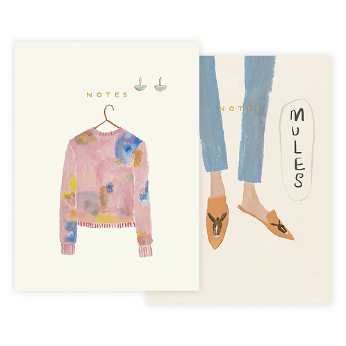 Sweater and Mules Notebook Set