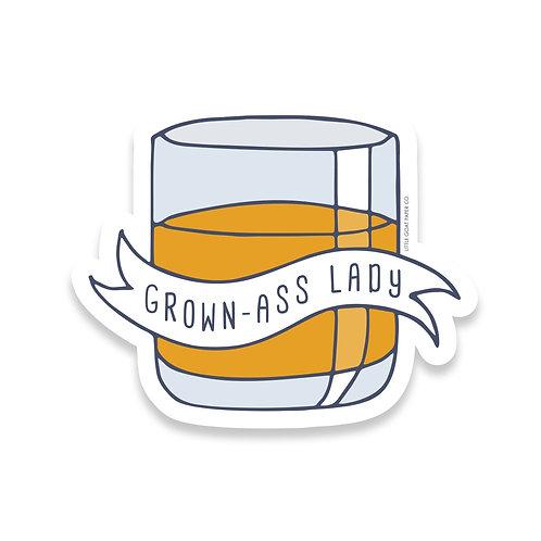 Grown Ass Lady Sticker