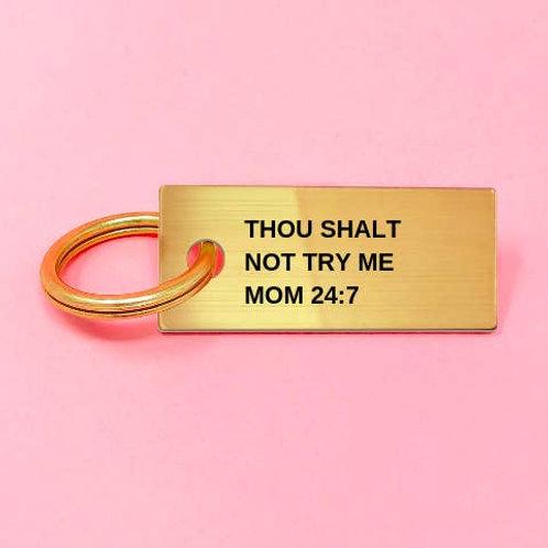 Mom 24:7 Key Ring