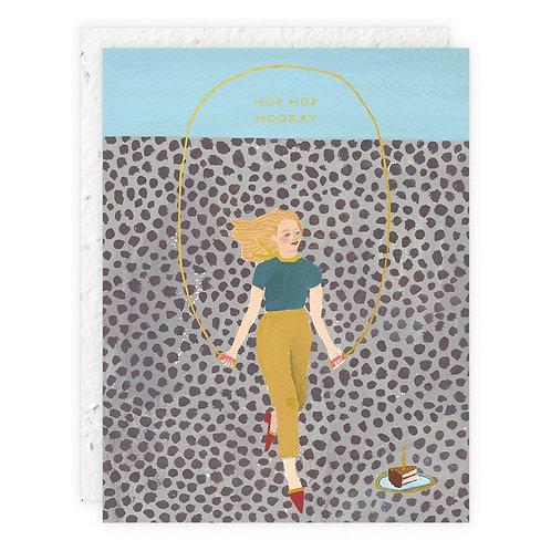 Jump Rope Girl Card