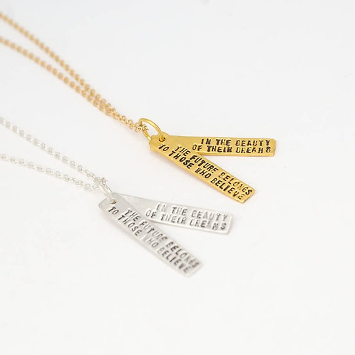 Eleanor Roosevelt Quote Necklace