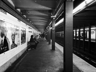 midnight on the subway