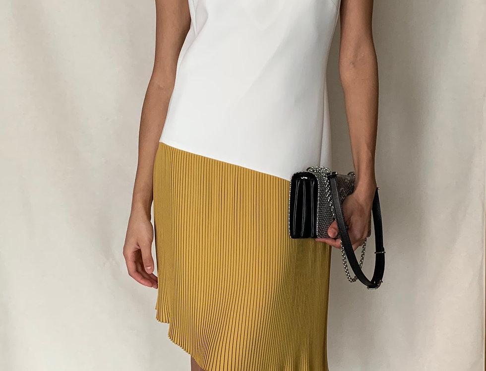 Robe blanche et jaune BARBARA BUI