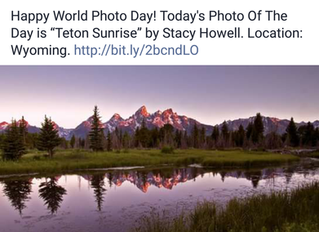 And on World Photo Day, too!