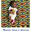 Thumbnail: 100% Ankara Pink Bird Newborn Baby set, Bib, Burp Cloth, Pacifier String