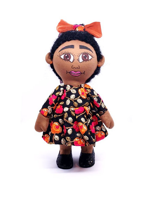 Pan African Twin One Puff Doll
