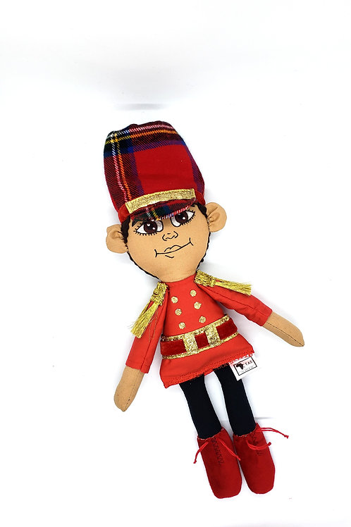 Pan African Holiday Rag Boy Red doll