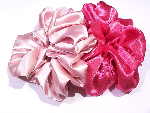 Extra Large Satin scrunchies, Satin protective styling scrunchies