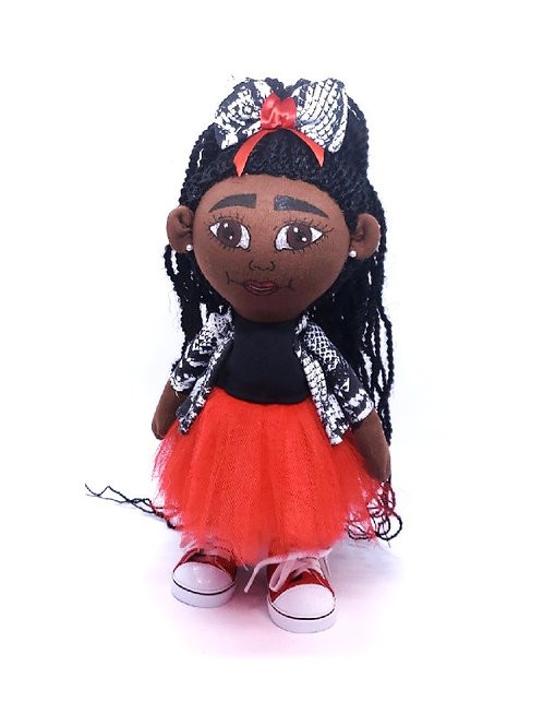 Pan African Red Tulle doll