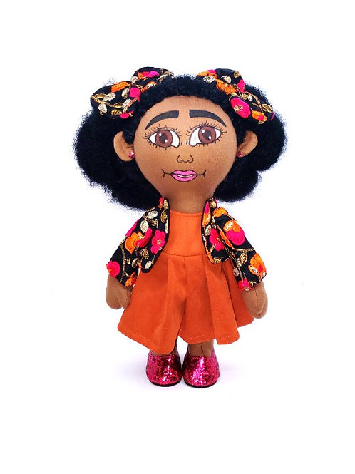 Pan African Twin Two Puff Balls Doll