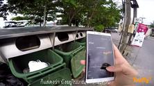 ลงพื้นที่ตรวจสอบโครงถังขยะและการใช้งานของเซ็นเซอร์ บริเวณหาดป่าตอง