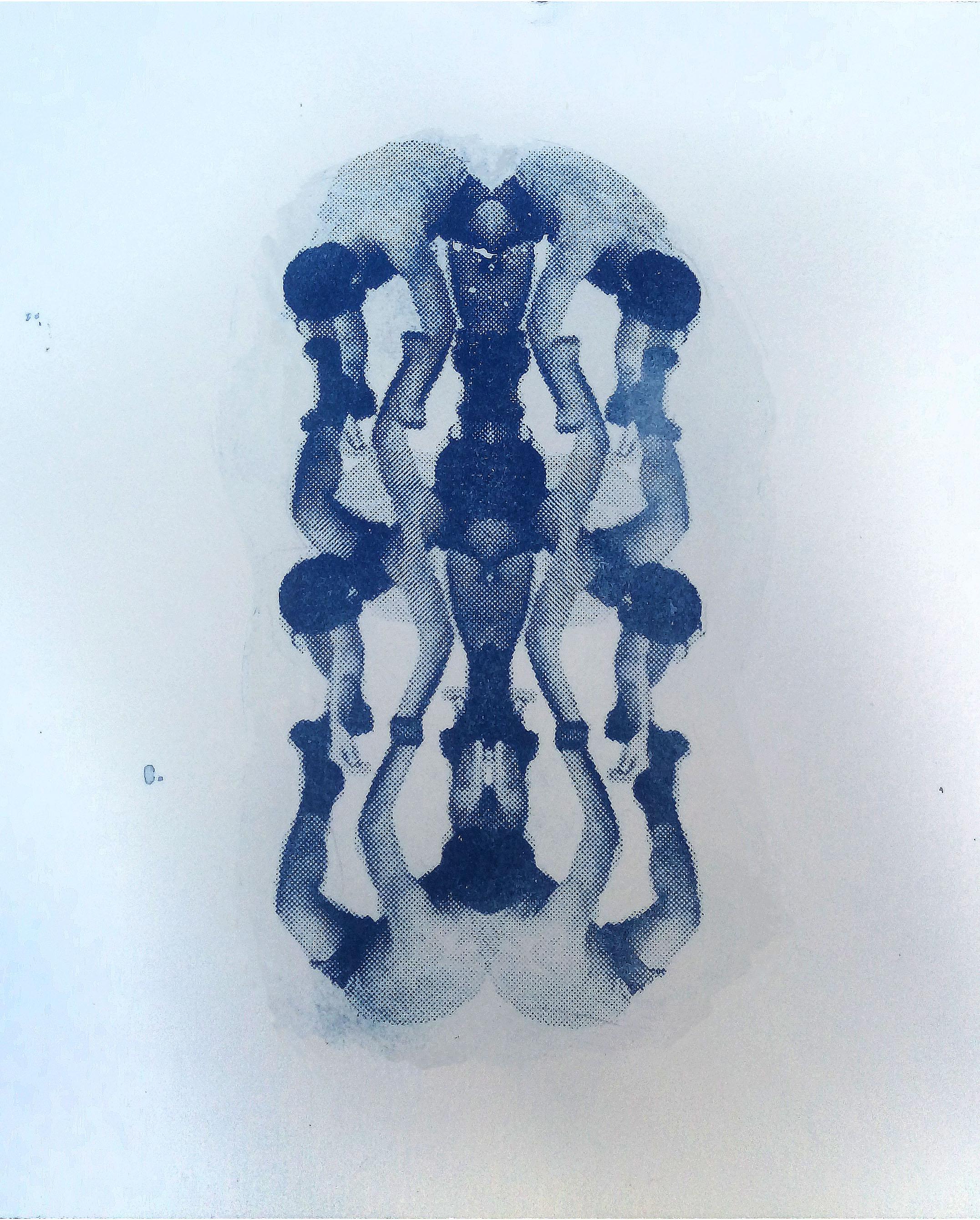 cianotipia Carimbo Corpo