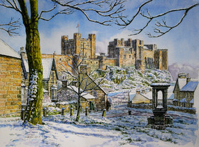 Snowy Afternoon in Bamburgh