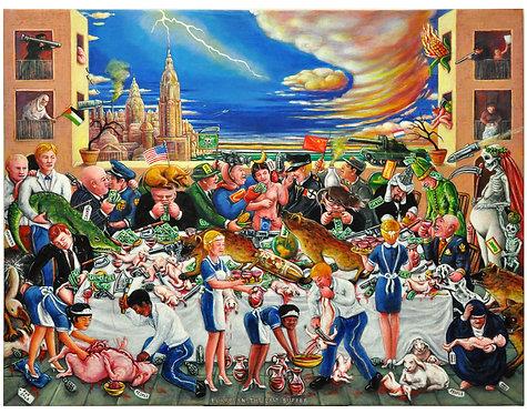 European, the last Supper 100 x 130
