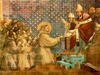Francisco de Asís; se aprueba la regla de los franciscanos, pero solo verbalmente