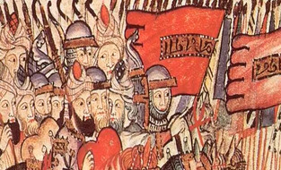 Al Mansur desembarca en Tarifa al mando de un ejército de 30.000 hombres