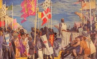 El emperador y el papa firman la paz; Roma salvada