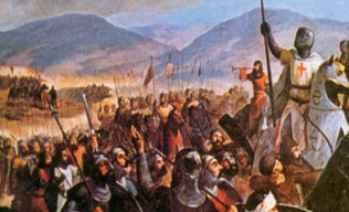 Catastrófico final de la Quinta Cruzada. El papa culpa al emperador Federico