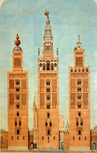 Mezquita aljama de Sevilla; nace la Giralda
