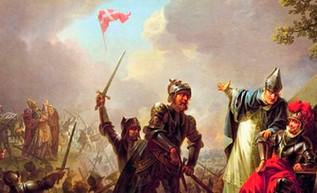 Valdemar II derrota a los estonios en Lyndanisse y adopta una nueva bandera