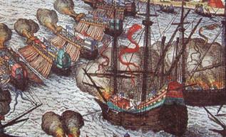Juan I de Inglaterra contraataca: destruye la flota francesa y obtiene apoyo de Flandes