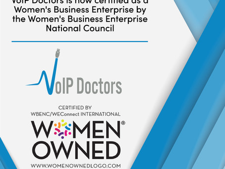VoIP Doctors Certified by the Women's Business Enterprise National Council