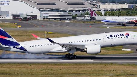 LATAM Airlines retira su flota de Airbus A350