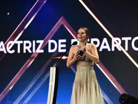 Luz Cipriota ganadora del Martín Fierro 2018 como mejor actriz de reparto