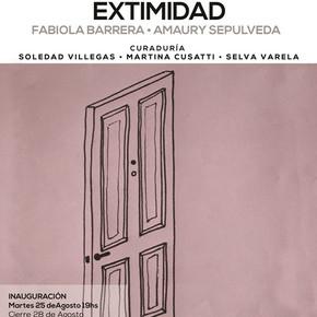 """""""Extimidad"""" de Fabiola Barrera y Amaury Sepulveda"""