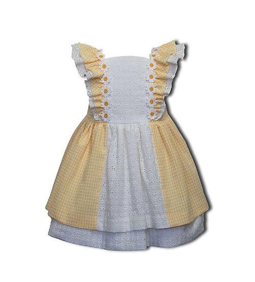 DAISY YELLOW & WHITE CHECKED DRESS JUNIOR