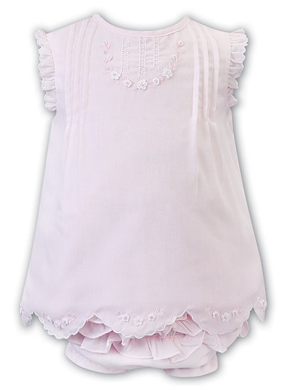 SARAH LOUISE PALE PINK DRESS & PANT SET