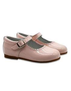 PINK MARY JANES IN PATENT