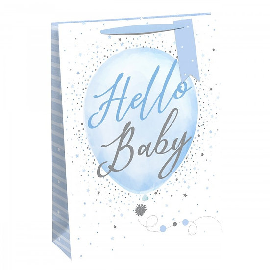 HELLO BABY BOY' LARGE BAG
