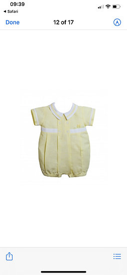 PRETTY ORIGINALS Boys Lemon Romper DL61801E