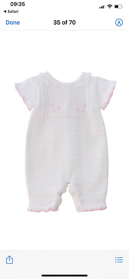 PRETTY ORIGINALS white & Pink Knitted Romper JPK3005E