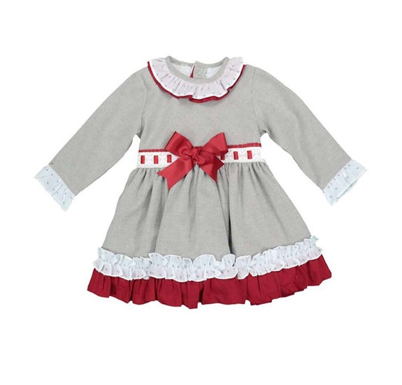 BABYFERR GREY & RED DRESS