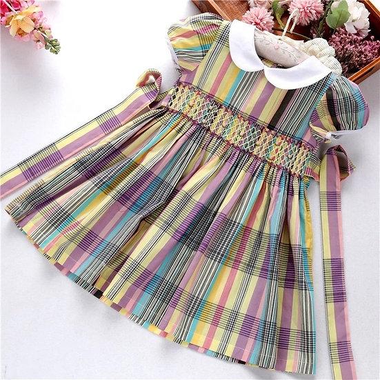 MULTI COLOURED SMOCKED DRESS