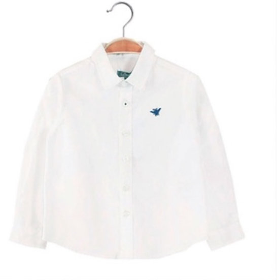 DADATI BOYS LONG SLEEVE SHIRT WHITE