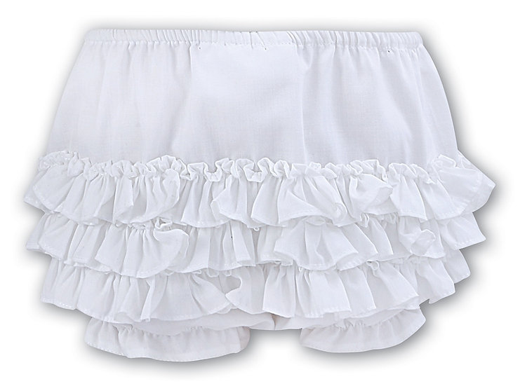 SARAH LOUISE WHITE FRILLY KNICKERS