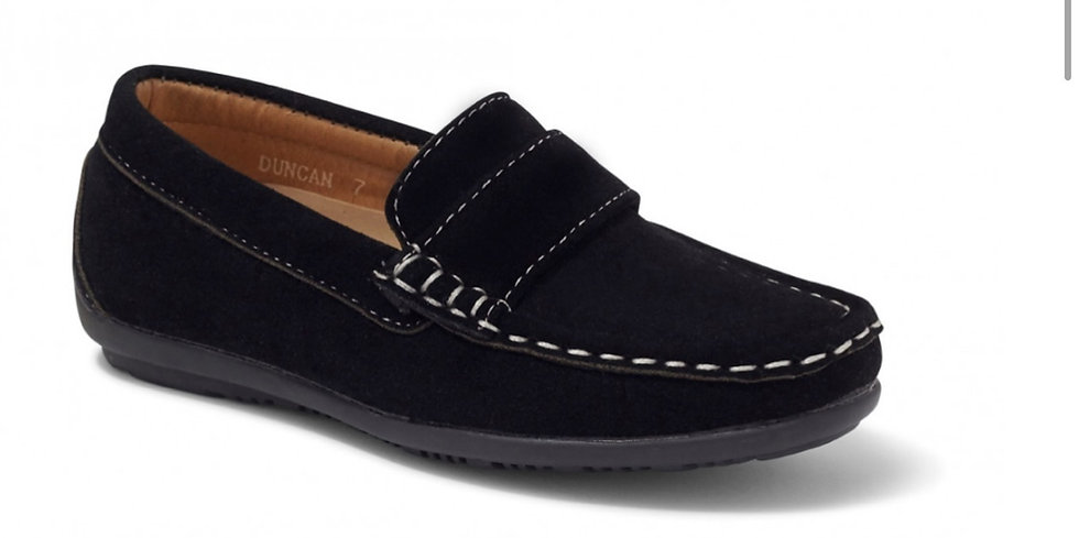 SEVVA BOYS SUEDE LOAFERS BLACK