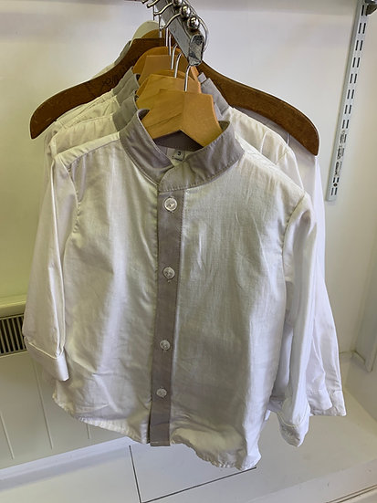 DIABLETS BOYS GREY AND WHITE SHIRT