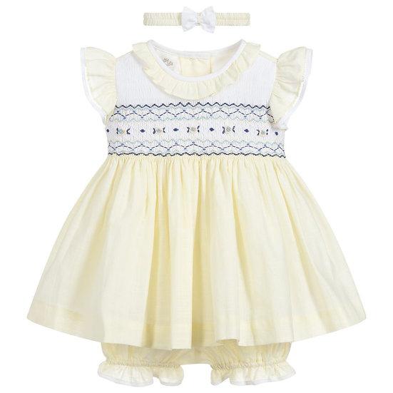 PRETTY ORIGINALS Yellow 3 Piece Dress Set BD01945E