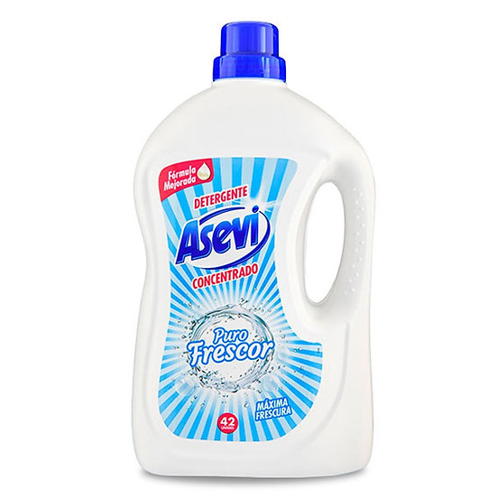 Asevi Detergent Wash Gel - Puro Frescor - 42 Washes 3 litre
