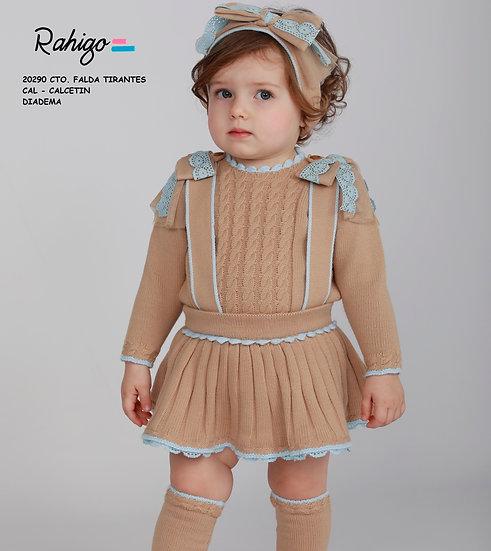 Rahigo Camel & Baby Blue 2 Piece Set