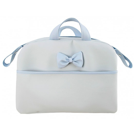 MODIN KONA CONTRAST BOW POCKET CHANGING BAG - GREY/BLUE